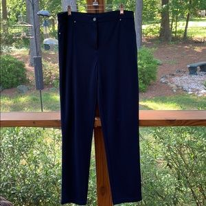 Chico's navy pants size 1.5 (10-12) like new